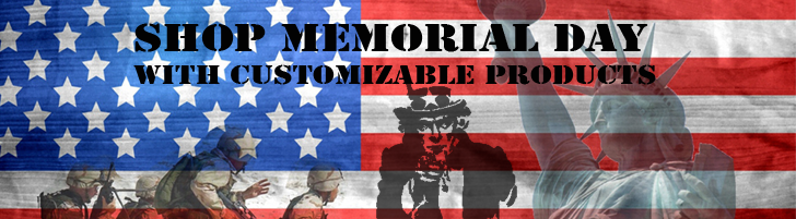 Shop Memorial Day with Customizable Products
